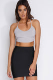 Emelia Side Strap Knit Top - Silver