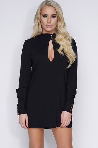 April Key Hole Tunic - Black - WantMyLook
