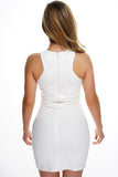 Cheri Zipper Dress - White