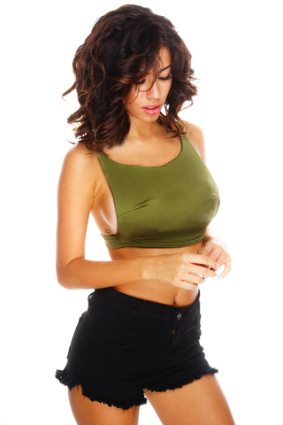 Utierre Cropped Tank - Green