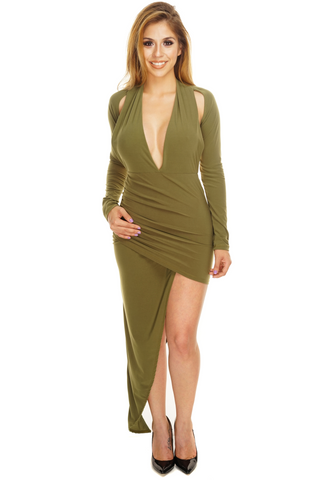 Valerie Dress - Olive - WantMyLook