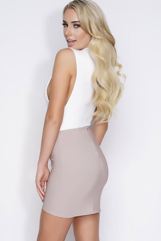 Quinn Mini Skirt - Taupe