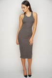 Sadie Midi Dress - Charcoal