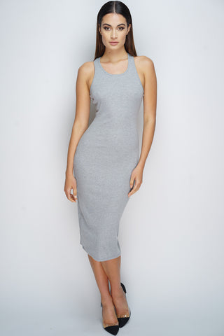 Sadie Midi Dress - Heather Grey