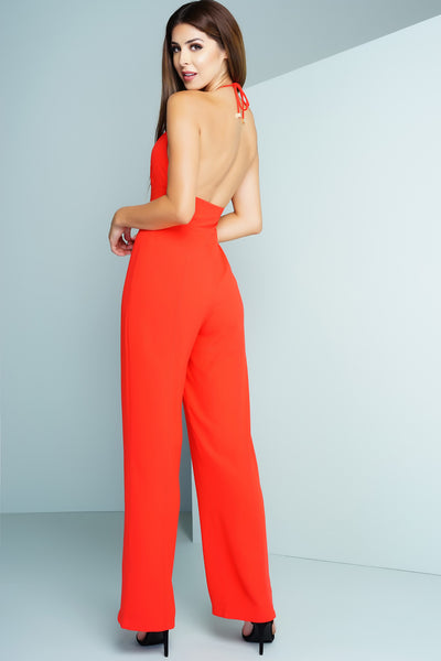 Ebony Jumpsuit - Red - WantMyLook