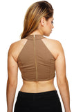 Tia Crop Top - Camel