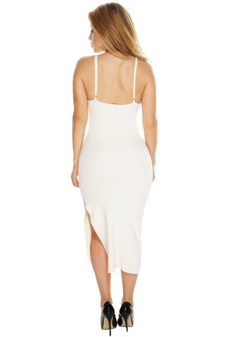 Side With Me Knit Dress - White