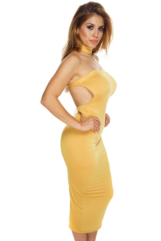 Cassidy Dress - Yellow - WantMyLook