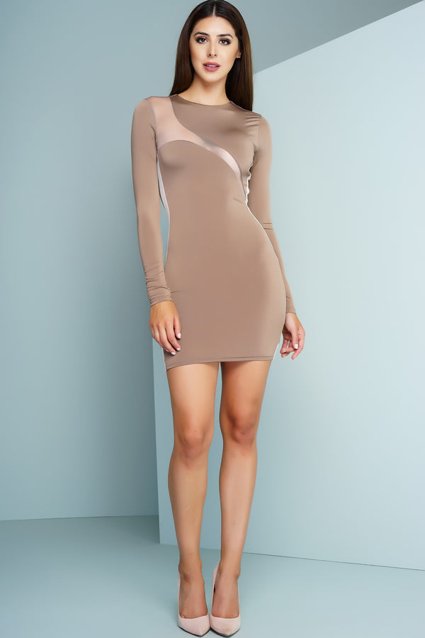 Moni Mini Dress - Nude - WantMyLook