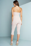 Letitia Cut Out Strapless Jumpsuit - Nude - WantMyLook