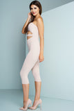 Letitia Cut Out Strapless Jumpsuit - Nude