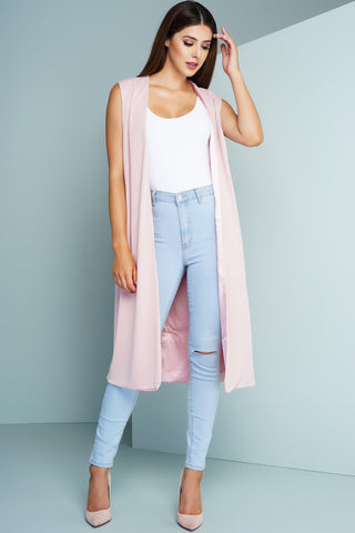 Duster Vest - Pink - WantMyLook