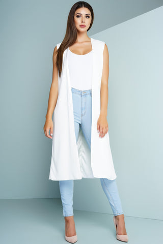 Duster Vest - White - WantMyLook