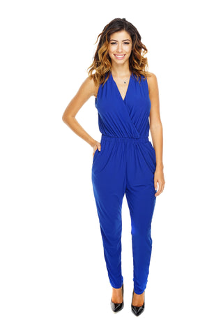 Corinne Jumpsuit - Royal Blue