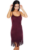Juliet Fringe Dress - Wine