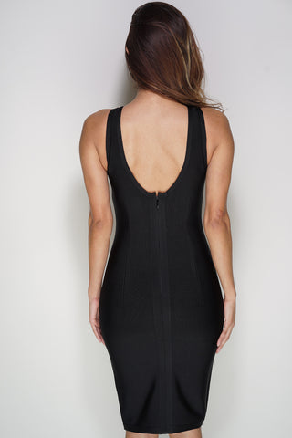 Aspen Lace Bandage Dress - Black - WantMyLook