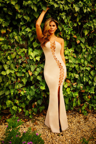 Tiernan Dress - Champagne - WantMyLook
