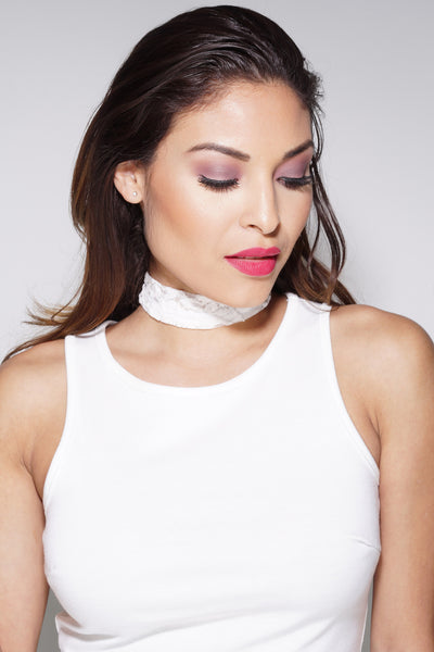 Choker - White Lace