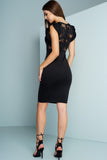 Briar Lace Pencil Dress - Black