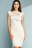 Briar Lace Pencil Dress - Nude