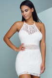 Claire Crochet Dress - White