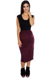Sabrina Suede Skirt - Wine