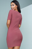 Nica Cut Out Mini Dress - Marsala - WantMyLook