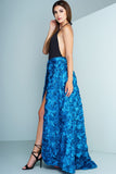 Rose Garden Floral Skirt - Blue - WantMyLook