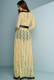 Elizabeth Lace Dress - Yellow