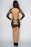Noelle Mini Dress - Gold