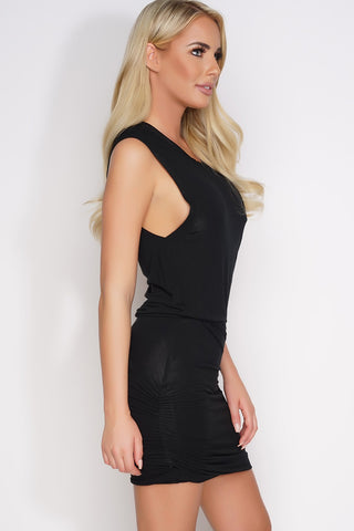 Anya Sleeveless Dress - Black - WantMyLook