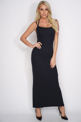 Karen Open Back Maxi Dress - Black