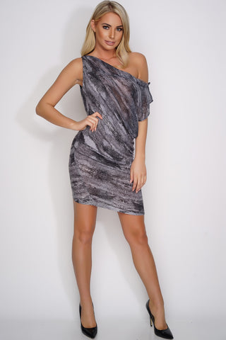Letecia Dress - Black Snake