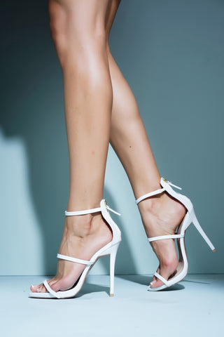Barely There Heels - White