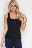 Claudia Ribbed Tank - Black