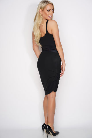 Carrie Short Skirt - Black - WantMyLook