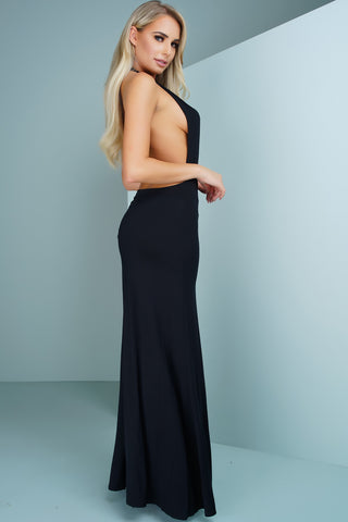 Dia Halter Maxi Dress - Black