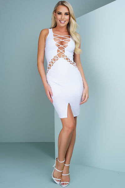 Samantha Dress - White - WantMyLook