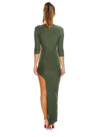 Samantha Dress - Olive - WantMyLook