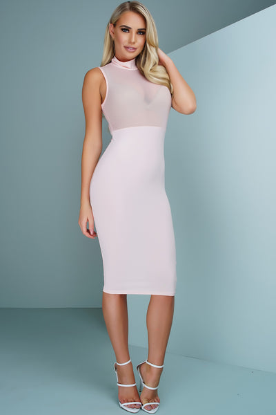 Sutton Mesh Dress - Pink