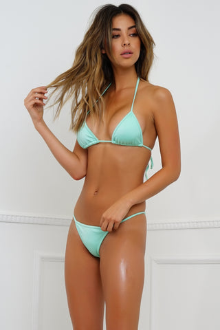 Summer Breeze Swim Top - Metallic Mint