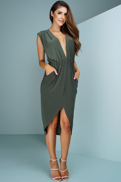 Shelly Pocket Dress - Olive