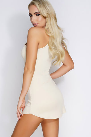 Tasha Mini Dress - Nude - WantMyLook