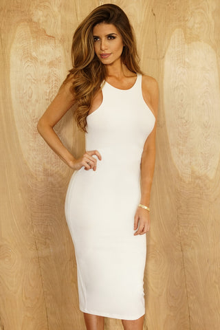 Vanessa Dress - White - WantMyLook