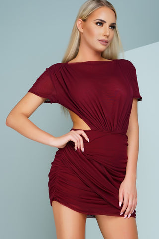 Mesh Me Up - Burgundy - WantMyLook