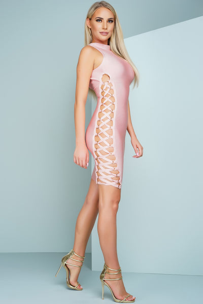 Mella Bandage Dress - Pink
