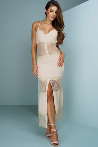 Eternal Lace Maxi - Nude - WantMyLook