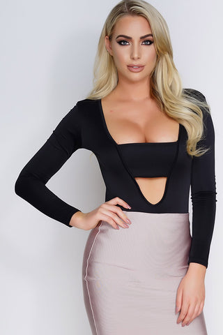 Tamia Bodysuit - Black - WantMyLook