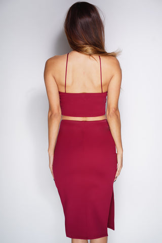 Adalia Set - Burgundy - WantMyLook