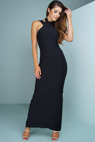 Hannah Maxi Dress - Black - WantMyLook
